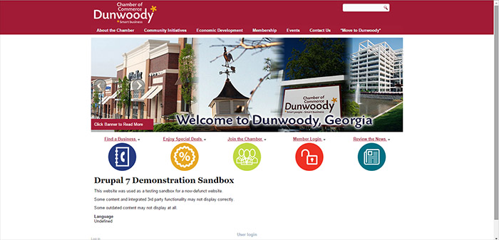 SDOC was the original webmaster for the Dunwoody Chamber from 2008 til 2015