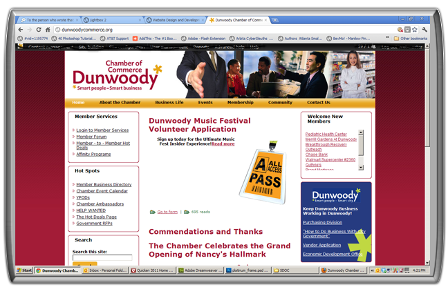 Website Design for Dunwoody Chamber