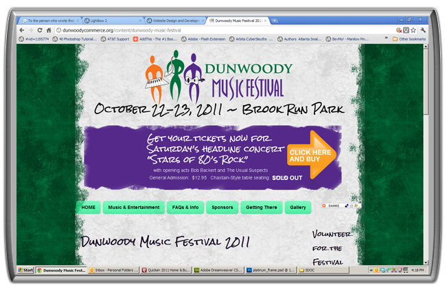 Website Design for Dunwoody Music Festival