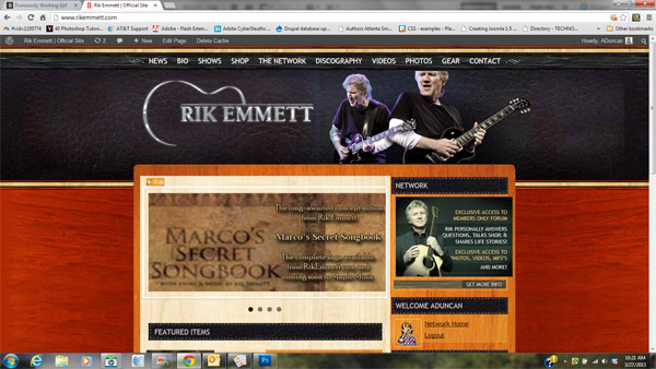 Website Design for RikEmmett.com
