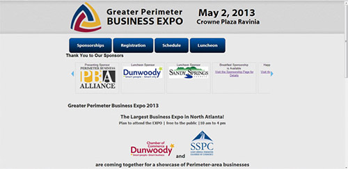 Web design and development for Greater Perimeter Business Expo
