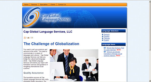 Website Design and Development for Cap Global Language Services
