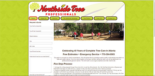 Web Design for Northside Tree Professionals