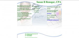 Web Design for Susan B Renegar, CPA