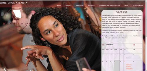 Website Design for WineShoe Atlanta