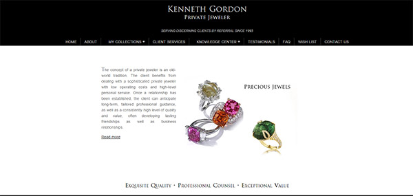 Kenneth Gordon ~ Private Jeweler