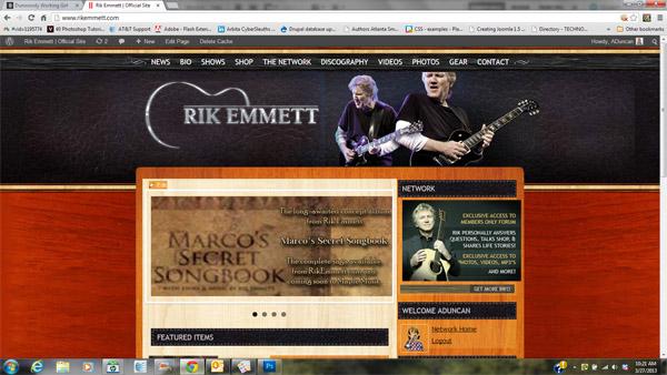 Website Design for RikEmmett.com