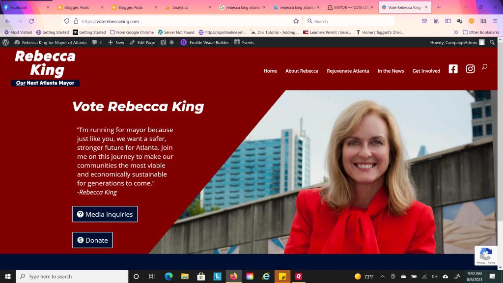 Rebecca King for Atlanta Mayor